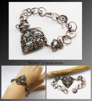 Vanora- wire wrapped bracelet by mea00