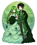 The Green Bride and Groom by Silver-Day