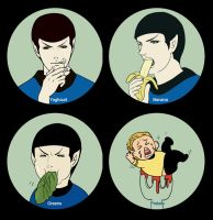 Star trek-Spock have his meal by dosruby