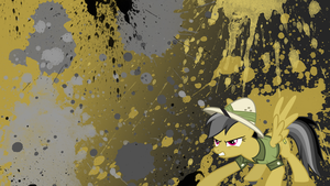 Daring Do Splatter Wallpaper by brightrai