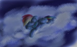 Sleepy Rainbow Dash by ManicMoron
