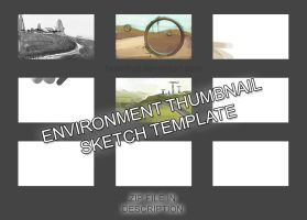 TEMPLATE -  Environment Thumbnail Sketch Grid by Brainfruit