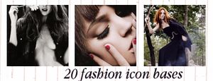 20 Fashion icon bases by innocentLexys