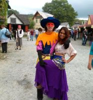 Clopin and Esmeralda at the Festival of Fools 1 by techaspike