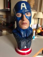 Captain America Bust 1:1 by HovigArt