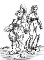 Fisticuff and Jet Dancer by hulkdaddyg