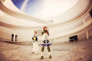 Lightning and Serah FFXIII-2 cosplay II by onlycyn