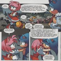 Archie comics sonic issue 246-scene Sonamy :3 by Monsethehedgehog