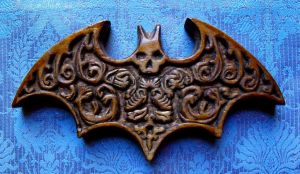 Carved Decadence Bat Symbol by eightcrows