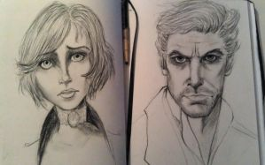 booker elizabeth charcoal portraits by yip-yop