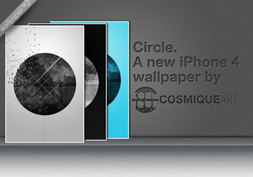 Circle. - iPhone 4 Wallpaper by CosmiqueArt