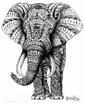 Ornate Elephant by Slightly-Spartan