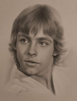 Mark Hamill as LUKE SKYWALKER (1977) by krzysztof20d