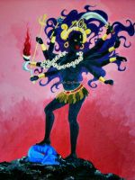 Kali in the Cremation Grounds by Child-Of-Gaea