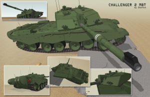 Challenger 2 tank, diff angles by shareck