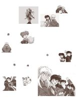 InuYasha brushes by patorishikulove