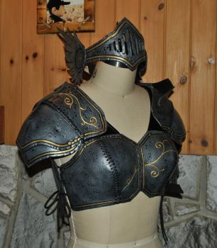 women leather armor by Lagueuse