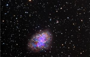 Crab nebula in polarized light by astrofireball