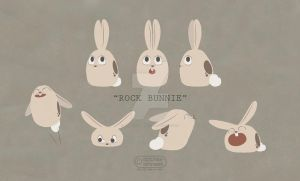 Rock Bunnie by apples-ishness