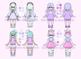Pastel Inkling Adoptables Set 1 [CLOSED] by Ghiraham-Sandwich