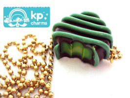 Green Chocolate necklace by KPcharms