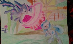 Trixie VS Twilight. by RusticShine