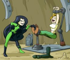 Commission- Shego and Abby by ChaosKomori