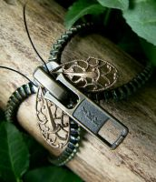 Come Zip With Me-Steampunk Zipper Bracelet by deathbysunset