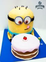 Minion Cake by TadeoMendoza