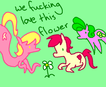 More Flower Trio by PonyGoggles