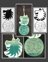 Lion Keychain and Name in Gallifreyan by agent-ayu