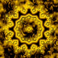 Golden Snowflake by playful-geometer