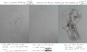 my pencil drawing process by onisuu