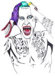 Jared Leto Joker Drawing by MoonIllustrator