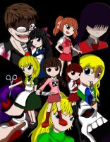 Yume Nikki, Ib, Majo no Ie, Mad Father, Misao by ScarletJewelCV05