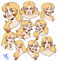 Lady expression sheet by SirMeo