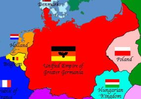 Map of my Greater Germania by GeneralHelghast