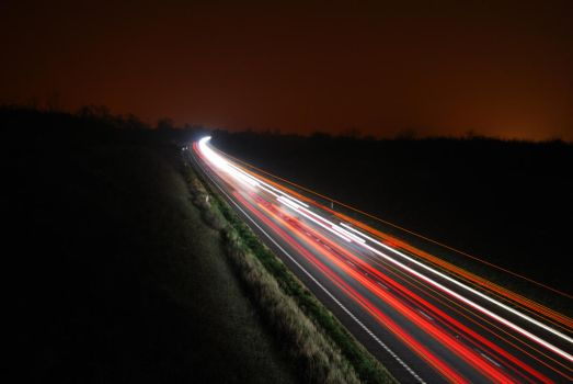 A45 at night by digita1Light