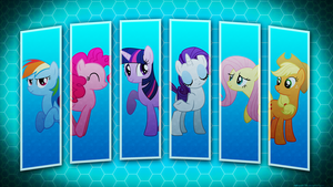 Mane 6 Wallpaper by Mithandir730