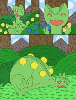 Sceptile eat berries in the forest 1-2 by MCsaurus