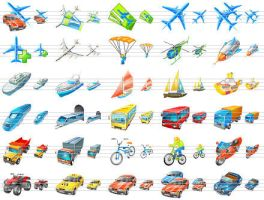 Transport Icons for Vista by Iconoman