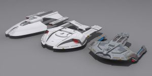 Star Trek First Contact Ships by AdamKop