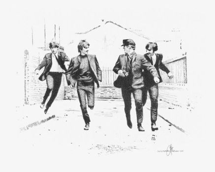 The Beatles Drawing by pencildrawn69