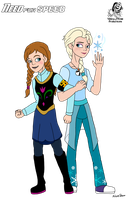 Need for Speed: Anna and Elsa by Aileen-Rose