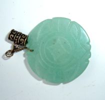jade coin pendant stock by DemoncherryStock