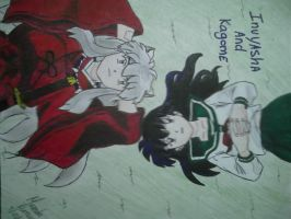 Kagome And Inuyasha by MirandaRose903