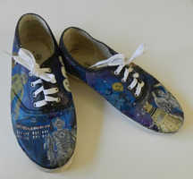Hand Painted Doctor Who Shoes by AtomicColor