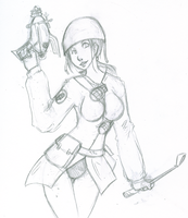 soldier girl sketch by KoKitsuneMimi