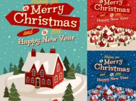 Fun-Christmas-vector-illustration-material-452x336 by vectorbackgrounds