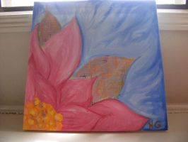 flower painting by somethingobvious